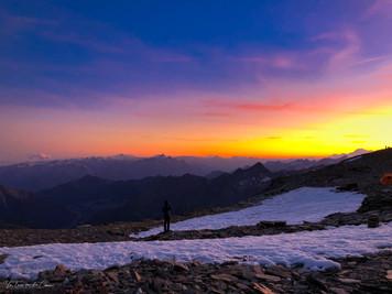 Les Alpes au crépuscule