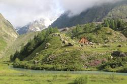 Le refuge du lac de Miage