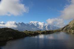 Lac des Chésery et Mt Blanc
