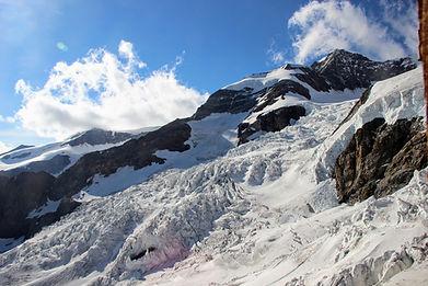 Le glacier du Lys et le Lyskamm