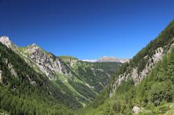 Vue depuis la vallée de Trient