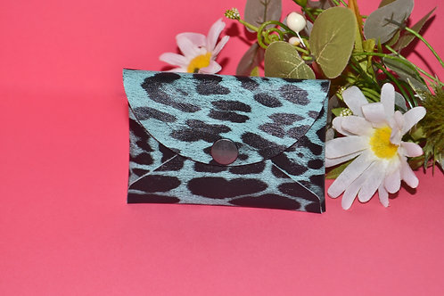 Blue Leopard  Wallet