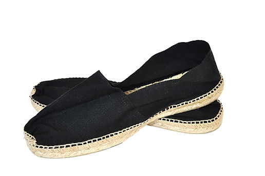 A pair of espadrilles isolated on a whit