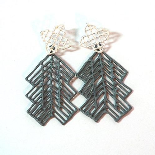 ANNA VLAHOS - Brincos Chain (Double Arrow)