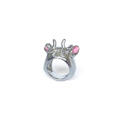 ÁUREA PRAGA - Anel Reindeer Pink