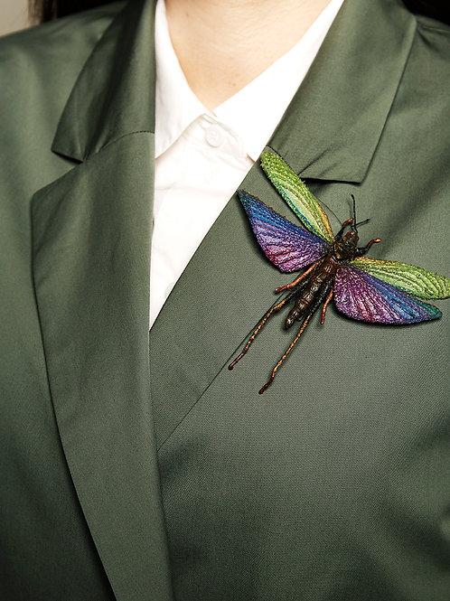 "NATALIA LUBIENIECKA Broche ""Colorful Grasshoper"""