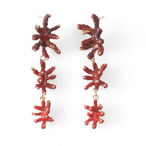 AISEGUL TELLI | Brincos 3 PCS DANGLE CORAL