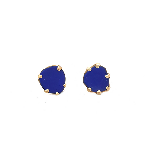 EVA BURTON - Gold Plated Studs in Blossom