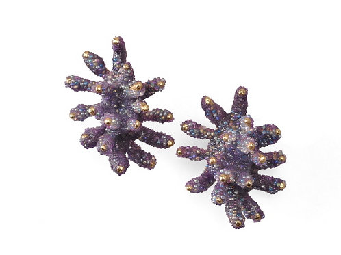 AISEGUL TELLI | Brincos PURPLE BUTTERFLY CORAL