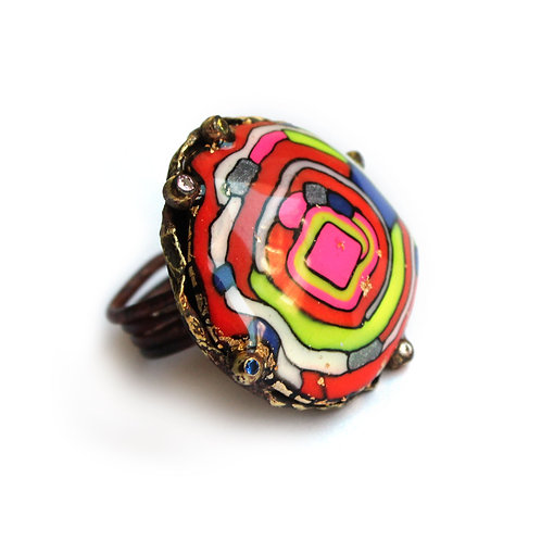 ALISA LETSIUS - Color Spirals ring I