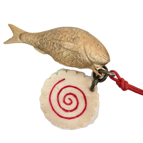 CATARINA SILVA | Colar Peixe e Espiral