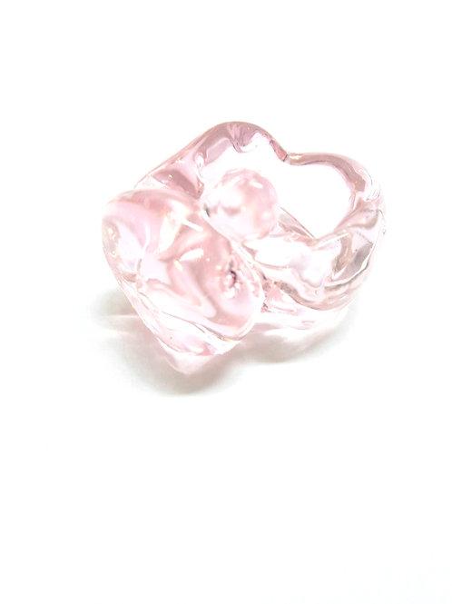 """LUZ ARIAS - Anel """"Transparent Pink"""""""