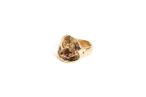 CHLOÉ VALORSO   Small stoned 1 smiley ring