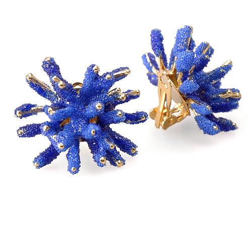 AISEGUL TELLI | CLIP ON BLUE REEF EARRINGS
