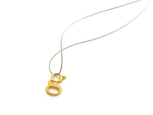 "AKIKO KURIHARA - COLAR ""1g GOLD"""