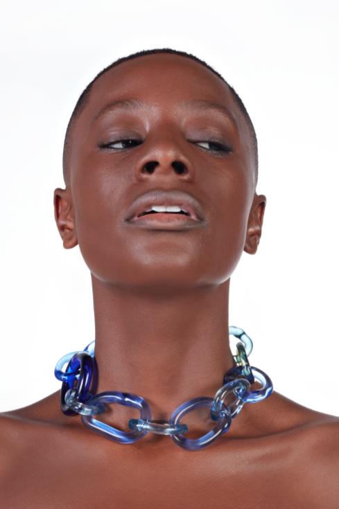 LUZ ARIAS | Colar Borosilicate Glass Blue