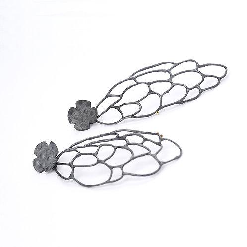 """ANNA VLAHOS- """"Dark Swan"""" earrings"""
