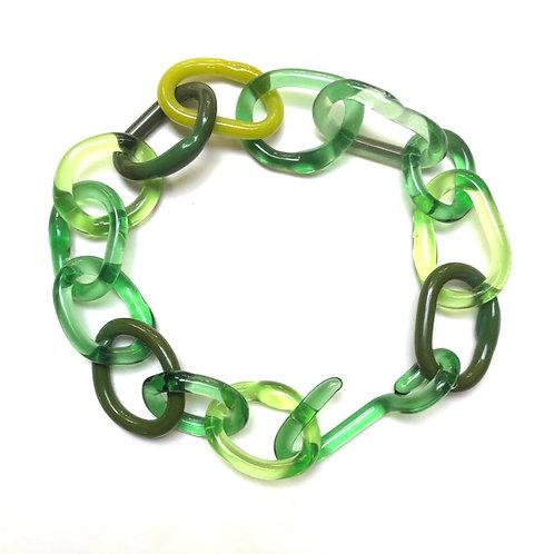 LUZ ARIAS | Colar Borosilicate Glass Green