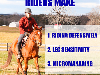 3 Common Mistakes Riders Make