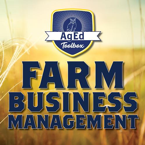 Farm Business Management Test Bank