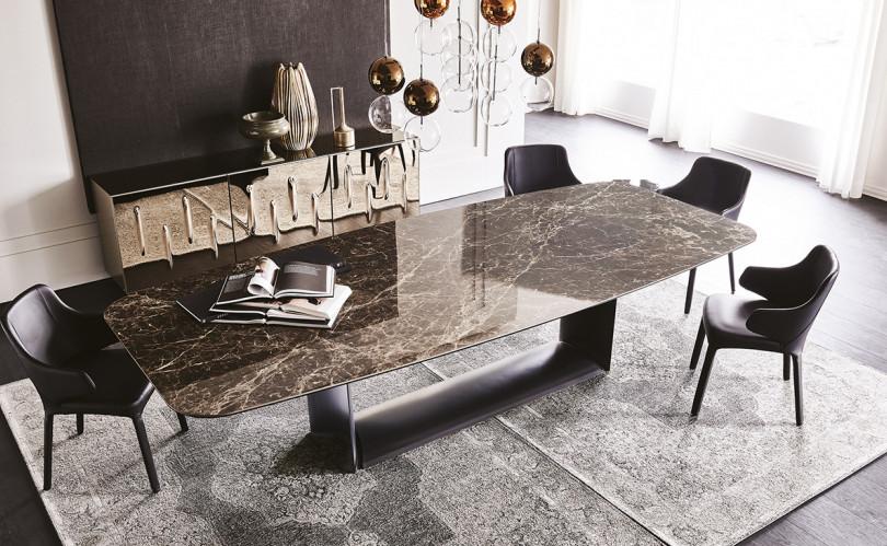 Luxusní jídelní stůl a židle Cattelan Italia