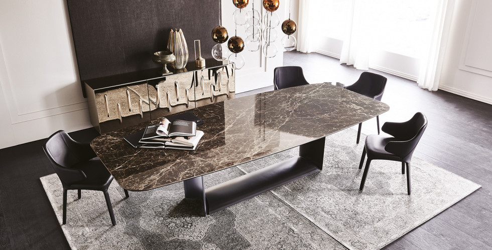 Luxurious dining table and chairs Cattelan Italia