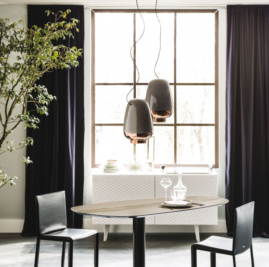 Luxury table and chairs Cattelan Italia