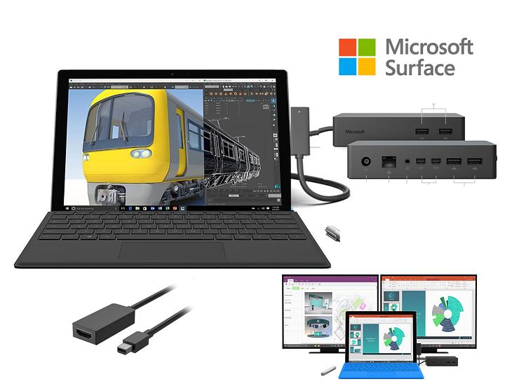 Microsoft surface pro 5 / intel i5 /  4GB / 128GB + Docking  + Teclado