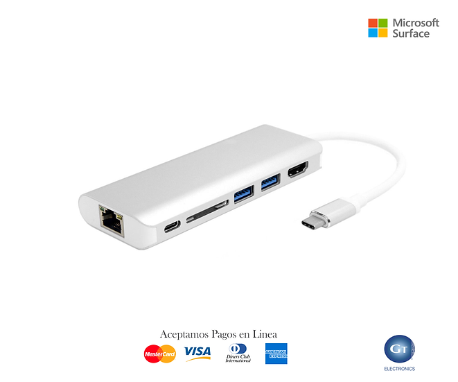 USB 3.1 Type-C to HDMI & Dual Ports 3.0 Hub & Ethernet & SD Card / Windows - Mac