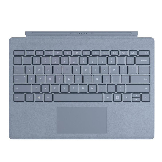 Microsoft Signature Type Cover for Surface Pro, Ice Blue