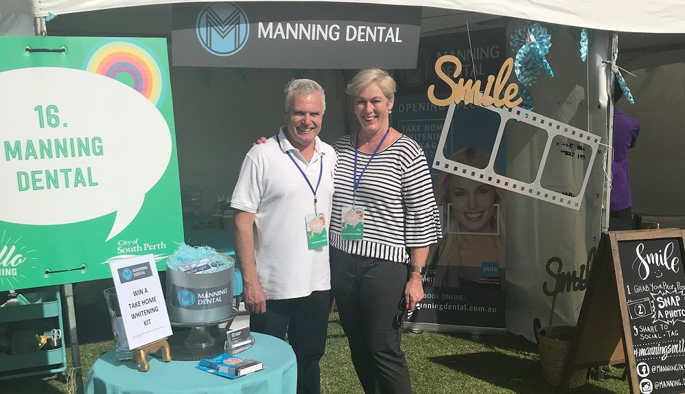 Dr John and Deb Cobley from Manning Dental at Hello Manning