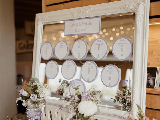 Hochzeit - Tischplan