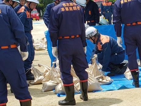 ■名東区総合水防訓練が行われました。 名東区では過去に風水害による大きな被害が発生したことがありました。日頃から災害に対する備えを万全にしたいと思います。