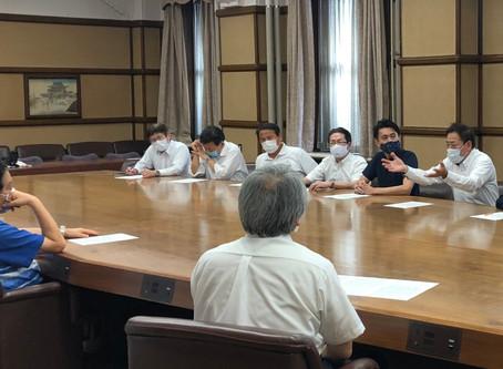 新型コロナ感染者専用の病床の確保を河村市長に要望しました