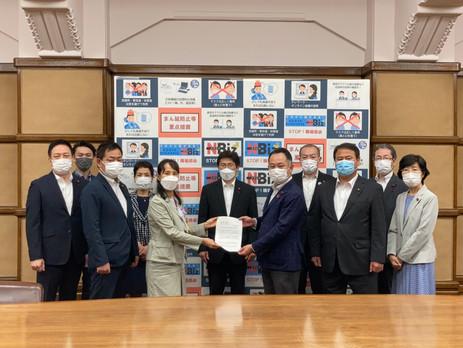 6月28日千葉県八街市で発生した下校中での痛ましい事故をうけ、通学路の安全対策を緊急要望しました