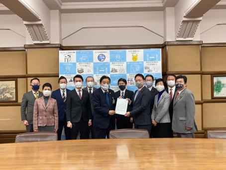 河村たかし市長に新型コロナウイルスワクチンを速やかに接種できる体制、相談窓口など丁寧な情報提供について要望しました