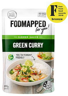 Green Curry low fodmap diet simmer sauce 200g