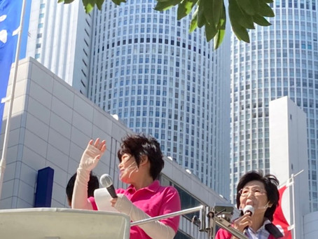 午後から女性議員街頭を行いました