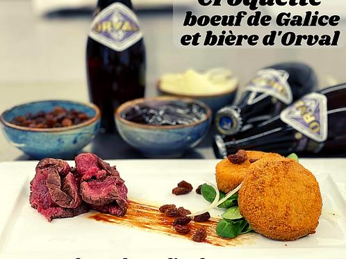 Boite de croquettes de boeuf de Galice et bière d'Orval 2X80g