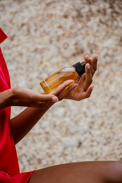 HAIR + BODY TREATMENT OIL (BAOBAB JOJOBA SWEET ALMOND)