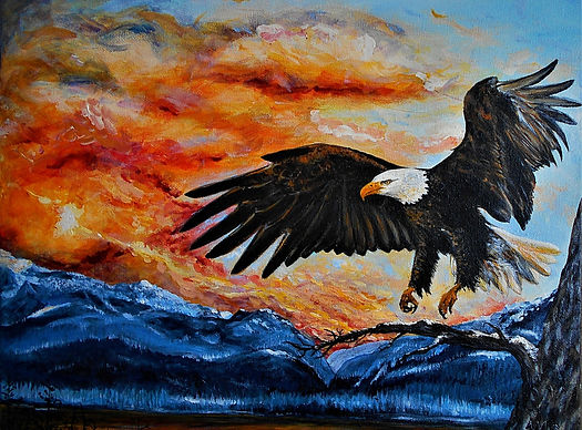 Michelle Spragg original art painting, jaguar on a drum commission
