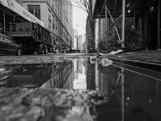 Vue du sol NY city 1