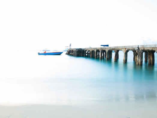 La jetée bleue