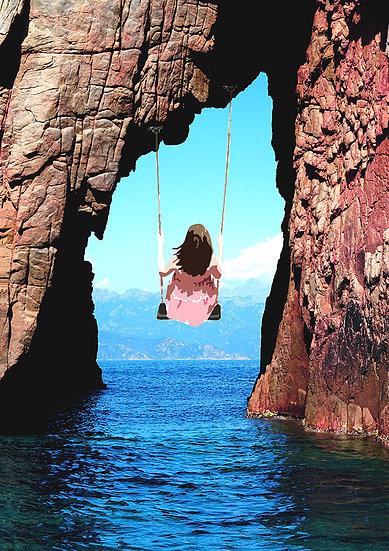 Une balançoire sur la mer