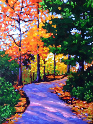 Purple Path through the Woods