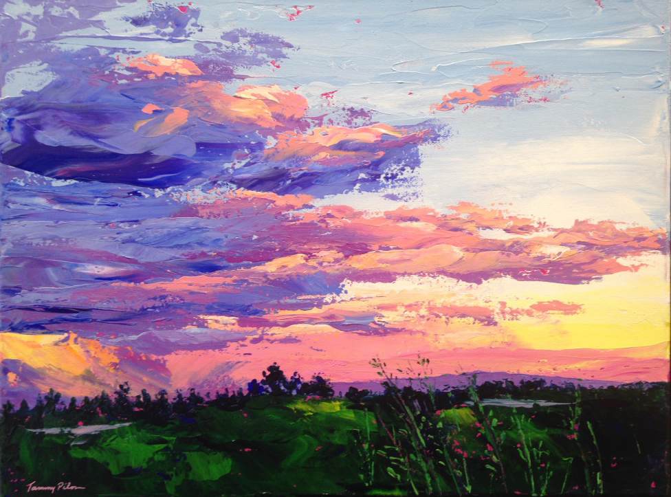 Dramatic Sunset over Pitt Meadows