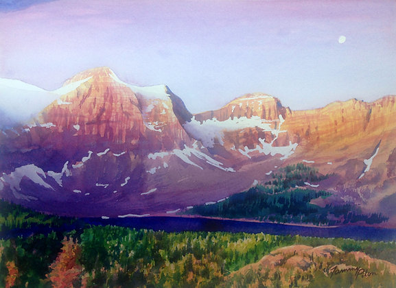 Mt. Assiniboine in reverse