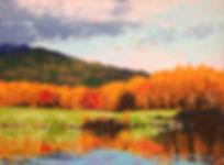 Autumn orange on Lafarge Lake.jpg