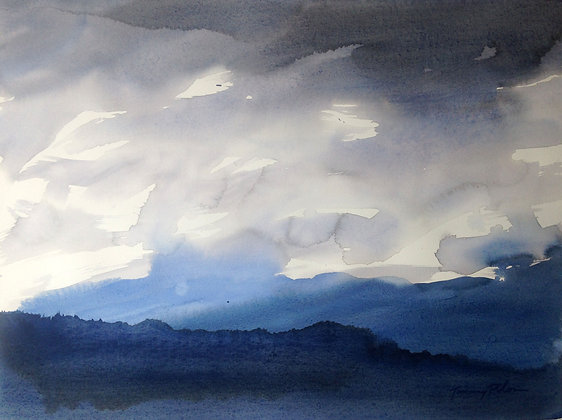 Storm Clouds touching the Mountains III
