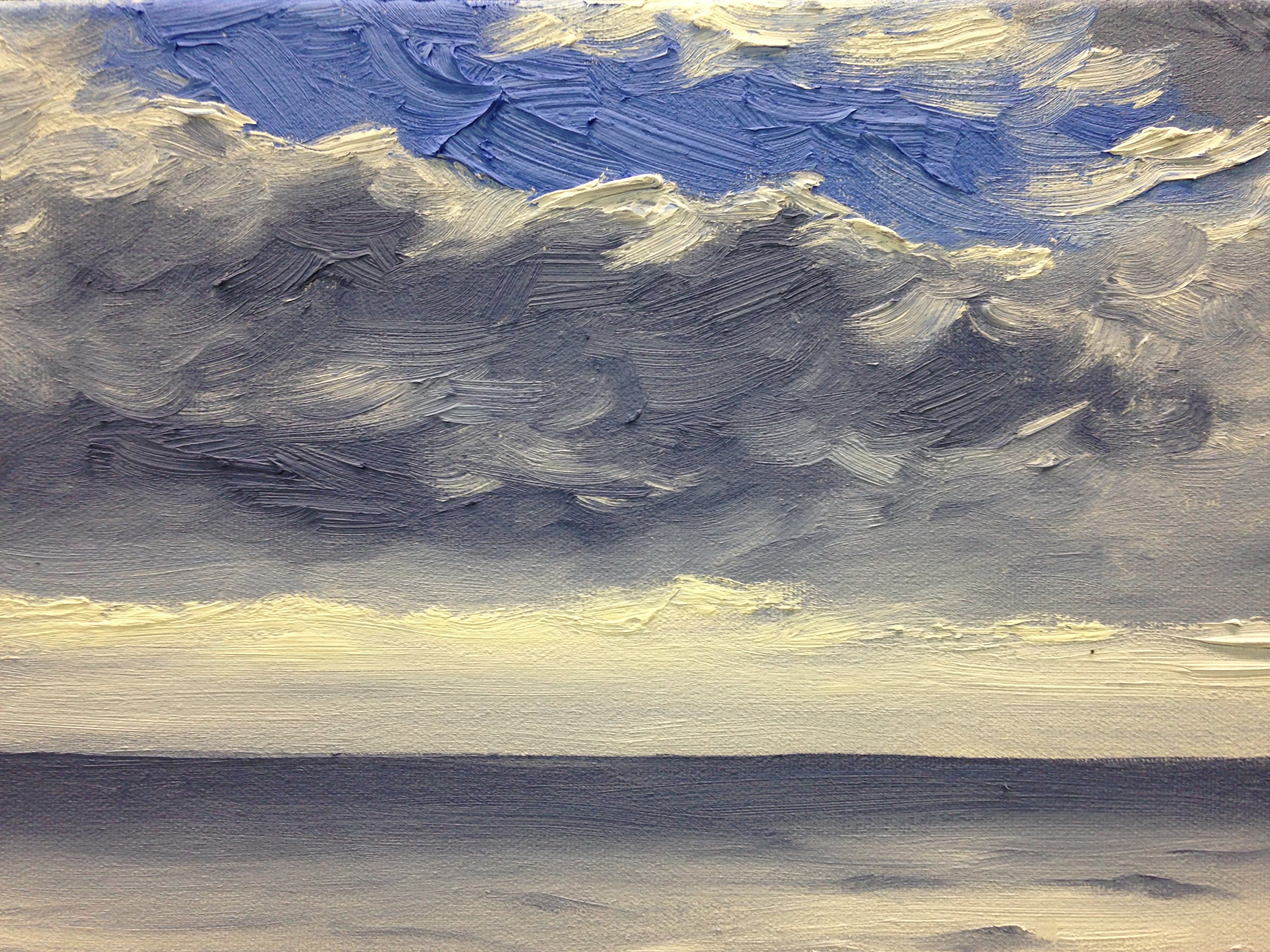 Clouds over the ocean